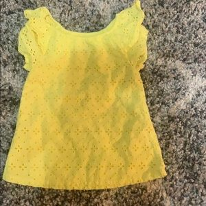 Yellow eyelet top 3T worn twice